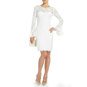 BCBG MaxAzria White Lace Salina Corset Dress 6